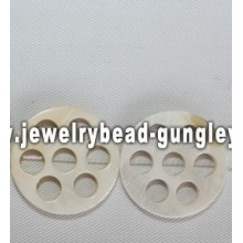 lotus root shape freshwater shell beads