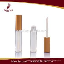Bouteille cosmétique à brosse à lèvres, tube transparent à lèvres transparentes, fabricants de conteneurs à lèvres brillantes