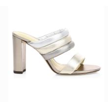 Customized Trendy Summer Lady Mules High Heel Stiletto Women Slippers
