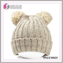 2015 Winter Warm Cute Bear Ohren dicke warme Wolle Strickmützen (SNZZM025)