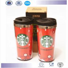 Nuevos productos doble pared 16 Oz taza Mug vaso café Starbucks Coffee