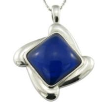 Navy Blue Changeable Stone Pendant