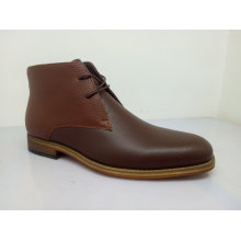 Brown Leather Mens Ankle Boots Nx 526