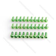 M3 Green Aluminium Schrauben und Kontermuttern, Schraube und Unterlegscheibe