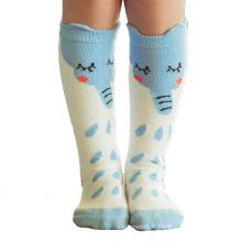 Chaussettes mi-hautes en coton éléphant pour enfants (KA030)