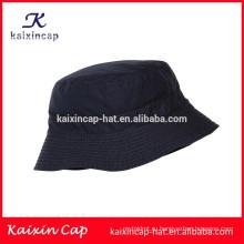 таможня OEM/пустой черный/холст материал/короткий brim/ведро шляпа