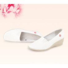 Soft genuine leather white nursing hospital shoes for nursed