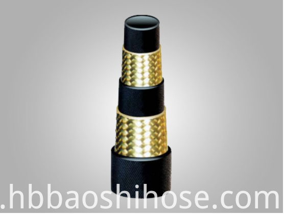 High Pressure Two Steel Wire Braided Reinforcements Rubber Hose