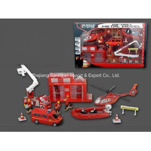 Conjunto de jogo de carros de metal fundido Toy-P / B Conjunto de jogos de combate a incêndios