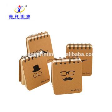 Memorando personalizado do bolso do caderno de kraft do caderno espiral do projeto 70 G / M