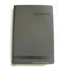 Cubierta gris Cuaderno personalizado, Cuaderno de hojas sueltas para oficina