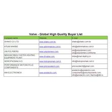 Válvula - Lista de Compradores Globais