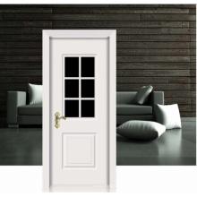 Design de flores branco porta de madeira sólida clássica