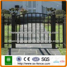 PVC coated & galvanized ornamental fence gate(manufacturer)