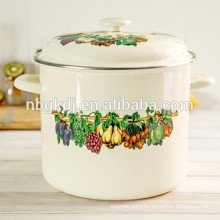 custom enamel high stock pot & Chinese enamelware