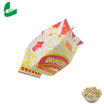 Sachets de pop-corn en papier micro-ondes imperméables et graissables Kraft
