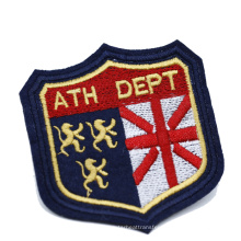 China Manufacturer Private Custom Iron On Embroidered Badge Patch