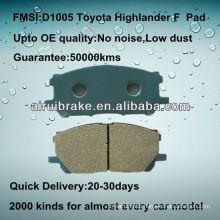 D1005 high performance semi-metallic pad for Toyota Highlander