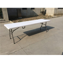 8FT Plastic Folding Suqare Table for Camping Use at Factory Price