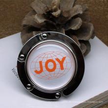Sostenedor plegable personalizado del monedero de la suspensión del bolso de la señora con la impresión (F2001B)