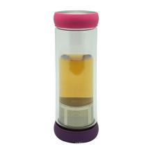Двойная стенка чай флакон 400 мл с Сетчатый фильтр