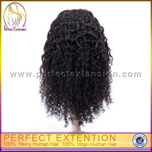 Hot Sale Cheap Girl Indian Virgin Remy Curly Kinky Afro Curl Lace Wig