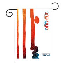 high quality sublimation party advertising blank seasonal garden flag