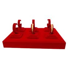 6 Clips Red Velvet Jewelry Bangles Box Display Tray Wholesale (TY-6BGL-RV)