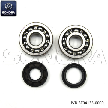Minarelli AM6 Crank Sharf Bearing Set Incl.Oil Seal (P / N: ST04135-0000) Top Quality
