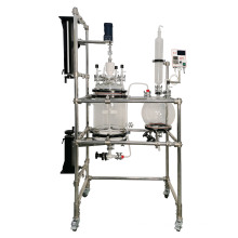30L  China hot and stirring Filter Polypeptide Reactor With Double Layer and SUS304 frame