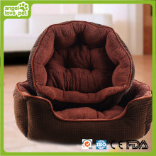 Suede Fabric Thicken and Warm Pet Bed (HN-pH565)