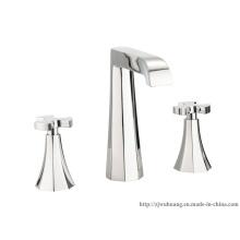 Elegant Dual Handle Deck Mounted Basin Faucet