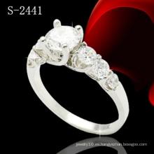 Joyería de moda 925 anillo de plata del diamante