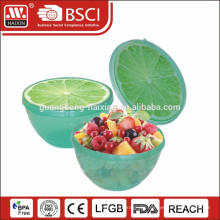 Plastikschüssel mit Obst-Muster