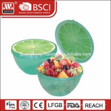bol en plastique avec motif fruits