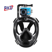 acessório de luz de mergulho máscara de mergulho panorâmica de borracha 180