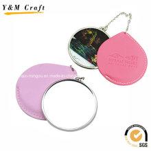 Дешевые индивидуальные печать кожа маленькие зеркала для туризма Ym1152