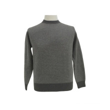 Pull manches longues col rond en laine / cachemire yak