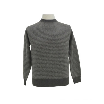 Yak lã / cashmere em torno do pescoço camisola de manga comprida