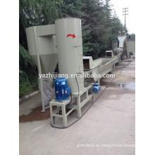 500KG por hora línea de reciclaje de botellas de PET y máquina de reciclaje de botellas de PET