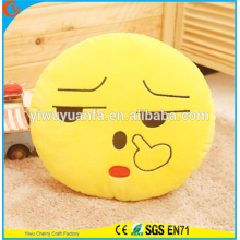 Hot Selling Novelty Design Cute Emotion Plush Emoji Pillow with Facial Expression