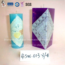 Religious Activities Use Colorful Pillar Wax Candle
