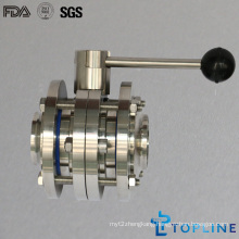 Sanitary Stainless Steel Butterfly Valve with Pulling Handle