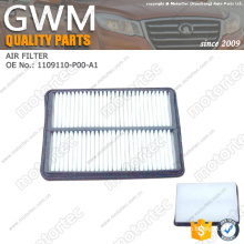 OE great wall spare parts air filter 1109110-P00-A1
