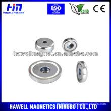 disk shape pot magnet