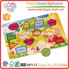 OEM Passed Colorful et Fashion Design Contreplaqué Kids Puzzle