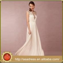 BHD10 Sexy Deep V Neck Sheer Back Wedding Dresses Cap Sleeve Beaded Bride Gown Vestidos Longo