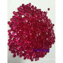 Bijoux pièces synthétiques précieuses rubis Cabochon