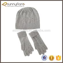 Cachemire tricot écharpe tricot et bonnet chapeau ensemble