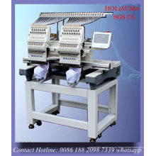 Máquina de bordar coser 2 cabeza / camiseta lentejuelas plana cordones bordado máquina